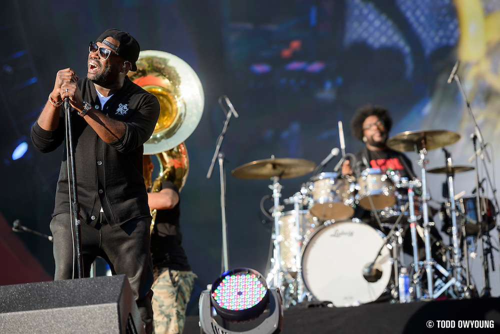 The Roots performing at the Global Citizen Festival 2014 in Central Park in New York City on September 27, 2014.