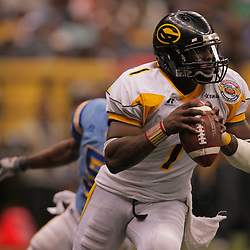 2008 November, 29: Grambling State quarterback Greg Dillon (1) runs with the ball during a 29-14 win by Grambling State over Southern University during the 35th annual State Farm Bayou Classic at the Louisiana Superdome in New Orleans, LA.  .
