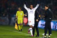 Joie Lyon - Alexandre LACAZETTE - 21.12.2014 - Bordeaux / Lyon - 19eme journee de Ligue 1 -<br />
