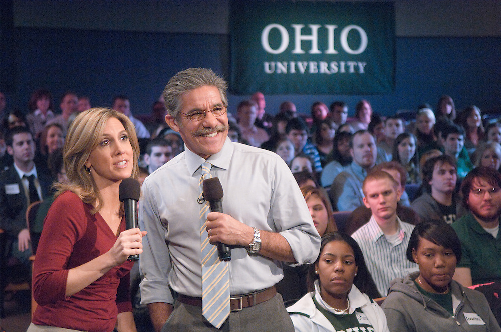 18584FOX News at Ohio University in Baker Center Theater...Alisyn Camerota and Geraldo Rivera