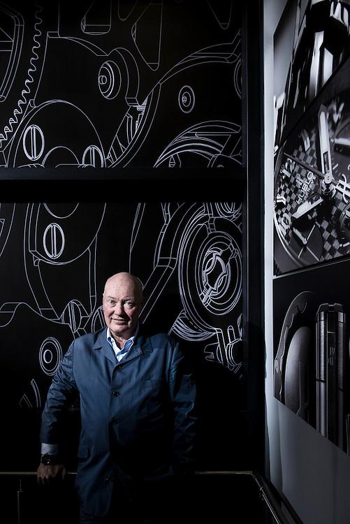 Jean-Claude Biver, President de la marque Hublot et Directeur du secteur horloger du groupe de luxe francais LVMH. Nyon, Suisse, 3 Septembre 2014 © Fred Merz | lundi13