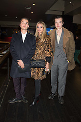 Left to right, RAFFERTY LAW, ISSY BOREMAN and MARLEY GRACE at the Al Films and Warner Music Screening of Kill Your Friends held at the Curzon Soho Cinema, 99 Shaftesbury Avenue, London on 27th October 2015.