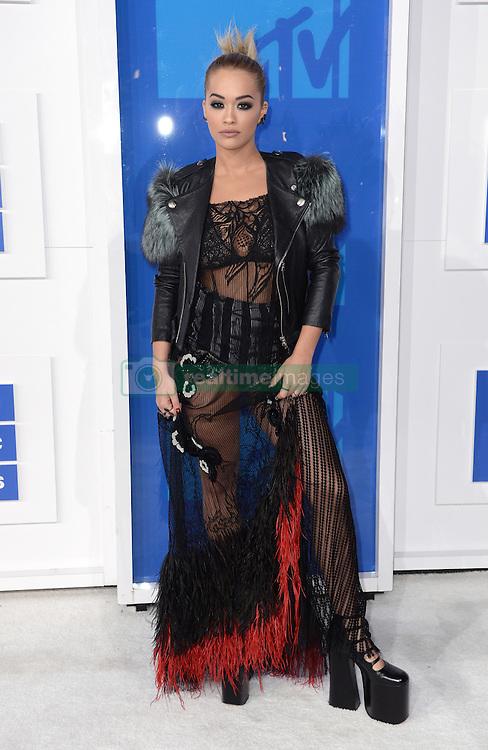 Rita Ora arriving at the MTV Video Music Awards 2016, Madison Square Garden, New York City. Photo credit should read: Doug Peters/EMPICS Entertainment