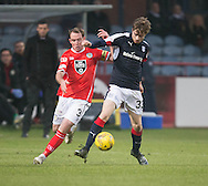 Dundee&rsquo;s Craig Wighton and St Mirren&rsquo;s former Dee Gary Irvine  - Dundee v St Mirren in the William Hill Scottish Cup at Dens Park, Dundee. Photo: David Young<br /> <br />  - &copy; David Young - www.davidyoungphoto.co.uk - email: davidyoungphoto@gmail.com