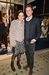 Emma Reeve and Simon Higson at a party to celebrate the launch of the APM Monaco Flagship Store at 3 South Molton Street, London on 11th February 2016
