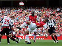 Photo: Ed Godden.<br />Arsenal v Sheffield United. The Barclays Premiership. 23/09/2006. Arsenal's Gilberto tries an overhead kick in the area.