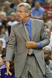 November 1, 2010; Sacramento, CA, USA;  Sacramento Kings head coach Paul Westphal on the bench during the first quarter against the Toronto Raptors at the ARCO Arena.