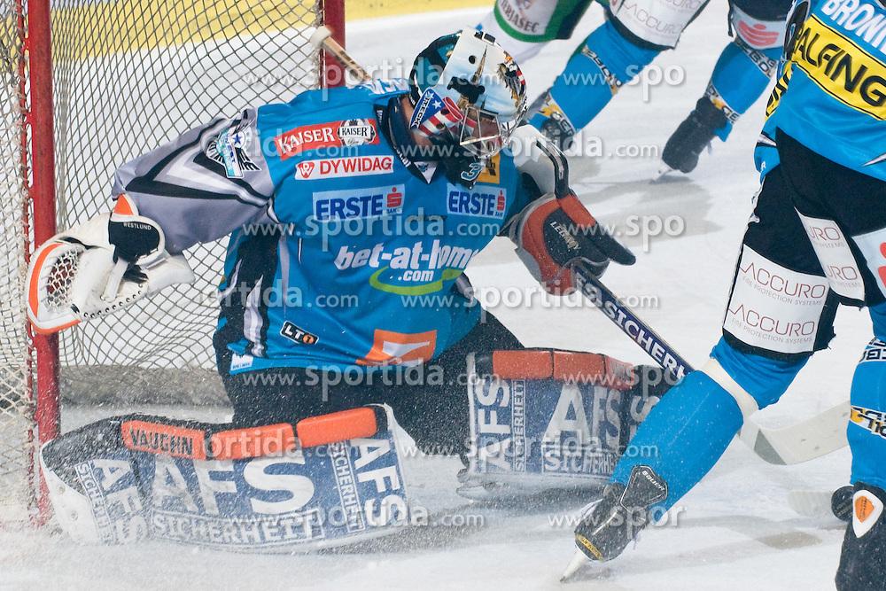 Alex Westlund (EHC Liwest Black Wings Linz, #32) during ice-hockey match between HDD Tilia Olimpija and EHC Liwest Black Wings Linz in 18th Round of EBEL league, on November 5, 2010 at Hala Tivoli, Ljubljana, Slovenia. (Photo By Matic Klansek Velej / Sportida.com)