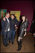 GARY TRAVIS; PETER SAVILE; ANNA BLESSMAN, Allen Jones private view. Royal Academy,  London. 11 November  2014.