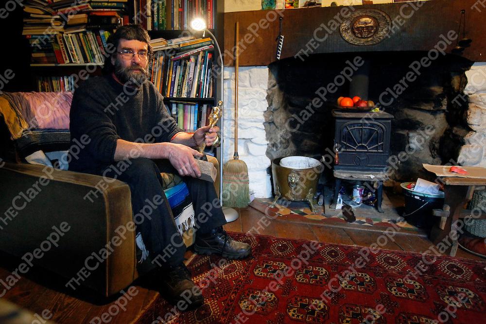 28/01/12<br /> Sculptor Colin Johnston pictured at home near Boston, Co. Clare.<br /> Picture: Don Moloney / Press 22