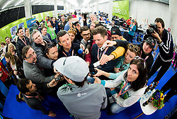 Peter Prevc (SLO) with journalists during press conference after the Ski Flying Hill Individual Competition at Day 4 of FIS Ski Jumping World Cup Final 2016, on March 20, 2016 in Planica, Slovenia. Photo by Vid Ponikvar / Sportida