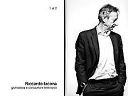 Riccsado Iacona, giornalista e conduttore televisivo.