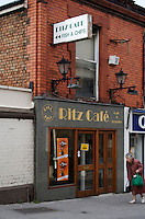 Ritz café traditional fish and chips takeaway shop in DunLaoghaire in Dublin Ireland