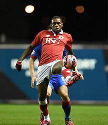 Bristol City's Jay Emmanuel-Thomas in action during the FA Cup third round replay between Bristol City and Doncaster Rovers at Ashton Gate on January 13, 2015 in Bristol, England. - Photo mandatory by-line: Paul Knight/JMP - Mobile: 07966 386802 - 13/01/2015 - SPORT - Football - Bristol - Ashton Gate Stadium - Bristol City v Doncaster Rovers - FA Cup third round replay