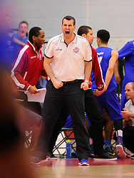 Bristol Flyers head coach, Andreas Kapoulas and his bench celebrate Bristol Flyers' Bree Perine's slam dunk  - Photo mandatory by-line: Joe Meredith/JMP - Mobile: 07966 386802 - 21/02/2015 - SPORT - Basketball - Bristol - SGS Wise Campus - Bristol Flyers v Plymouth Uni Raiders - British Basketball League
