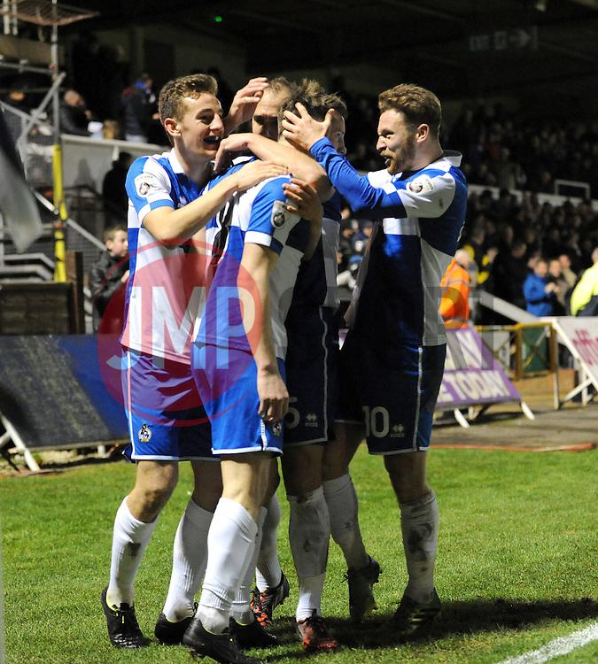 Bristol Rovers celebrate  - Photo mandatory by-line: Neil Brookman/JMP - Mobile: 07966 386802 - 19/12/2014 - SPORT - football - Bristol - Memorial Stadium - Bristol Rovers v Gateshead  - Vanarama Conference