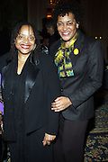 l to r: Carrie Mae Weems and Dr. Deb Willis at the Weeksville Heritage Society Awards and book celebration for ' Posing Beauty ' sponsored by The Weeksville Heritage Society and held at The Jumeirah Essex House hotel on Novemeber 16, 2009