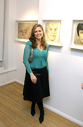 SHEBAH RONAY at an exhibition of artist Jonathan Yeo's portrait paintings held at Eleven, 11 Eccleston Street, London SW1 on 16th February 2006.<br />
