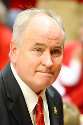 """31 January 2009: Illinois State Representative Dan Brady is in the house. The Illinois State University Redbirds join the Bradley Braves in a tie for 2nd place in """"The Valley"""" with a 69-65 win on Doug Collins Court inside Redbird Arena on the campus of Illinois State University in Normal Illinois"""