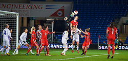 CARDIFF, WALES - Friday, November 24, 2017: Wales' Rhiannon Roberts during the FIFA Women's World Cup 2019 Qualifying Round Group 1 match between Wales and Kazakhstan at the Cardiff City Stadium. (Pic by David Rawcliffe/Propaganda)