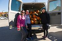 Pumpkin deliveries from Vista Food for Pumpkin Fest 2015.  Karen Bobotas for the Laconia Daily Sun