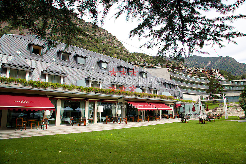 ANDORRA LA VELLA, ANDORRA - Tuesday, September 9, 2014: Andorra Park Hotel before the opening UEFA Euro 2016 qualifying match against Andorra. (Pic by David Rawcliffe/Propaganda)