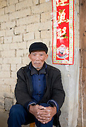 Elderly man in Fuli Old Town, Xingping, China