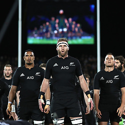 CHRISTCHURCH, NEW ZEALAND - SEPTEMBER 17:  Kieran Read of the All Blacks leads the haka during the Rugby Championship match between the New Zealand All Blacks and the South Africa Springboks at AMI Stadium on September 17, 2016 in Christchurch, New Zealand.  (Photo by Phil Walter/ POOL)