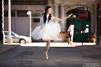 Streets of New York City Dance As Art Photography Project in Tribeca featuring dancer