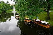 Boats on he Canal in Bastejkalna park, Riga, Latvia