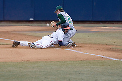 Virginia Cavaliers infielder Greg Miclat (2) beats the William and Mary throw as he steals third base.  The Virginia Cavaliers Baseball Team defeated William and Mary 17-2 at Davenport Field in Charlottesville, VA on February 20, 2007.
