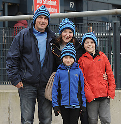 Westport supporters Pat and Sinead Conway with kids Emma and Cillian,<br />Pic Conor McKeown