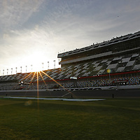 A general overview of the front stretch at  Daytona International Speedway on Thursday, February 21, 2013 in Daytona Beach, Florida.  (AP Photo/Alex Menendez)