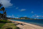 Waterfront and beach in Noumea capital of New Caledonia, Melanesia, South Pacific