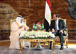 07.04.2016, Kairo, EGY, Der ägyptische Präsident Abdel Fattah al-Sisi empfängt Saudi-König Salman, im Bild, Der ägyptische Präsident Abdel Fattah al-Sisi empfängt Saudi-König Salman //  Egyptian President Abdel Fattah al-Sisi meets with Saudi King Salman bin Abdulaziz. Saudi King Salman started a five-day visit to Cairo in a show of support for Egyptian President Abdel Fattah al-Sisi, with the leaders due to sign a raft of investment deals, Egypt on 2016/04/07. EXPA Pictures © 2016, PhotoCredit: EXPA/ APAimages/ Egyptian President Office<br /> <br /> *****ATTENTION - for AUT, GER, SUI, ITA, POL, CRO, SRB only*****