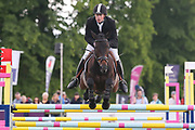 Esi Pheonix ridden by Angus Smales in the Equi-Trek CCI-4* Show Jumping during the Bramham International Horse Trials 2019 at Bramham Park, Bramham, United Kingdom on 9 June 2019.