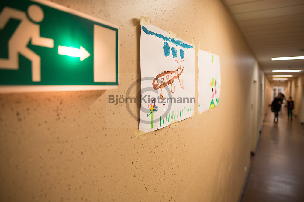 Berlin, Germany - 09.02.2016<br /> <br /> Emergency shelter for refugees in the former town hall Berlin-Wilmersdorf. Currently, about 1,500 people live in the property, the Capacity is now to be increased by a few hundred people.<br /> <br /> Notunterkunft fuer Fluechtlinge im ehemaligen Rathaus Berlin-Wilmersdorf. Derzeit leben circa 1500 Menschen in der Unterkunft, die Kapazitaet soll nun um einige hundert Menschen erhoeht werden soll.<br /> <br /> Photo: Bjoern Kietzmann