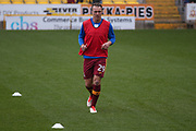 Bradford City defender Anthony McMahon (29) warming up  during the EFL Sky Bet League 1 match between Bradford City and Doncaster Rovers at the Northern Commercials Stadium, Bradford, England on 30 September 2017. Photo by Simon Davies.