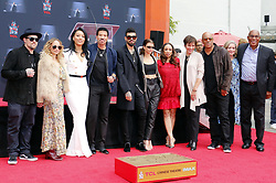 Lionel Richie, Sofia Richie, Miles Richie, Nicole Richie, Lionel Richie, Lisa Parigi and Benji Madden at Lionel Richie Hand And Footprint Ceremony held at the TCL Chinese Theatre in Hollywood, USA on March 7, 2018.