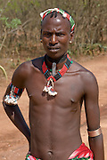 Hamer tribesman, Omovalley,Ethiopia,Africa