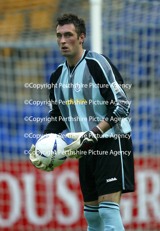 St Johnstone's new keeper Allan McGregor who has signed on loan from Rangers.<br /><br />Picture by Graeme Hart.<br />Copyright Perthshire Picture Agency<br />Tel: 01738 623350  Mobile: 07990 594431