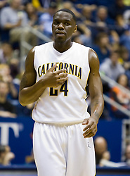 February 13, 2010; Berkeley, CA, USA;  California Golden Bears forward Theo Robertson (24) during the first half against the Washington State Cougars at the Haas Pavilion.  California defeated Washington State 86-70.