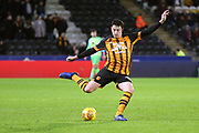 Hull City defender Tommy Elphick (35)  during the EFL Sky Bet Championship match between Hull City and Swansea City at the KCOM Stadium, Kingston upon Hull, England on 22 December 2018.