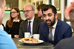 Justice Secretary Humza Yousaf and Lord Advocate James Wolffe QC get the views of school children at the launch the consultation in Edinburgh.<br /> <br /> © Dave Johnston / EEm