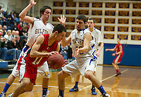 Gilford versus Campbell quarterfinal game NHIAA Division III basketball Saturday, March 2, 2013.  Karen Bobotas/for the Laconia Daily Sun