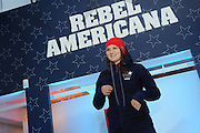 Devin Logan, U.S. Freeskiing hopeful, debuts the official women's slopestyle U.S. Freeskiing Competition Uniform designed and manufactured by The North Face, Monday, October 28, 2013, in New York. (Photo by Diane Bondareff/Invision for The North Face/AP Images)