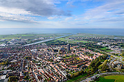 Nederland, Zeeland, Schouwen-Duiveland, 28-10-2014; Zierikzee met Sint-Lievensmonstertoren.<br /> Zierikzee, located on the island of Schouwen, Zealand.<br /> luchtfoto (toeslag op standard tarieven); aerial photo (additional fee required); <br /> copyright foto/photo Siebe Swart