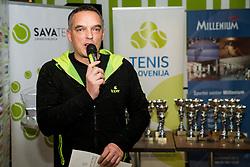 Gasper Bolhar, BTC – Medot rekreativni teniški turnir dvojic, on January 13, 2018 in BTC Millenium centre, Ljubljana, Slovenia. Photo by Vid Ponikvar / Sportida