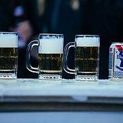PBR the beer and mugs of choice for the 2015 Gelande Quaffing Championships.