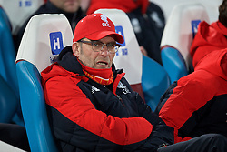 LONDON, ENGLAND - Tuesday, February 9, 2016: Liverpool's manager Jürgen Klopp returns after surgery to remove his appendix  before the FA Cup 4th Round Replay match against West Ham United at Upton Park. (Pic by David Rawcliffe/Propaganda)